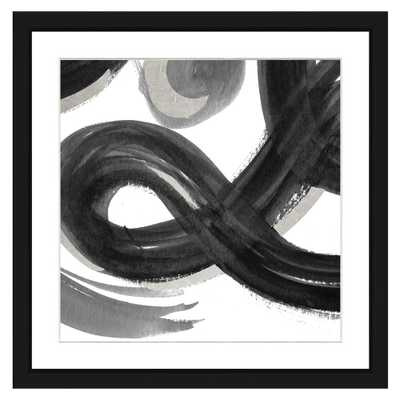Vintage Print Gallery Black and white abstract II Framed Archival Paper Wall Art (20x20) - Home Depot