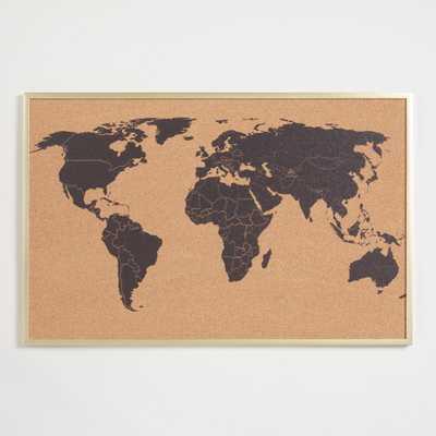 World Map Corkboard in Frame by World Market - World Market/Cost Plus