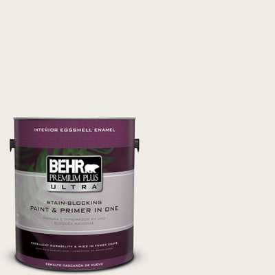 BEHR Premium Plus Ultra 1 gal. #PPU7-12 Silky White Eggshell Enamel Interior Paint and Primer in One - Home Depot