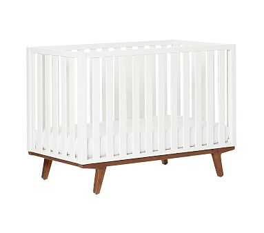 west elm x pbk Modern Crib, White Lacquer, UPS - Pottery Barn Kids
