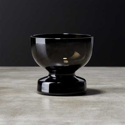 Bottom Heavy Smoke Cordial Glass - CB2