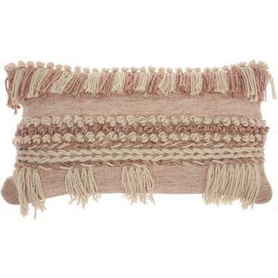 Ellijay Bohemian Textured Wool/Cotton Throw Pillow - AllModern