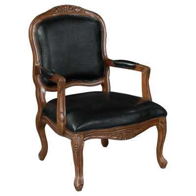 Intricate Hand Carved Accent Chair - Black - Christopher Knight Home - Target