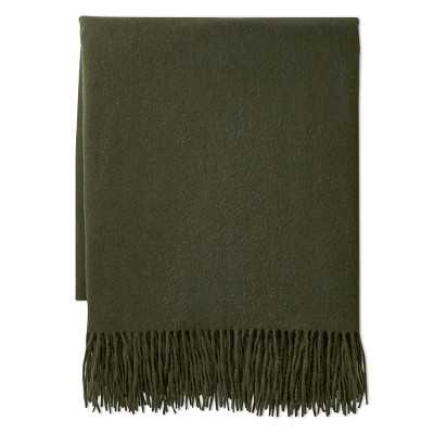 """Solid Cashmere Throw, 50"""" X 65"""", Moss - Williams Sonoma"""