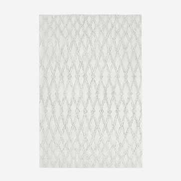 Hazy Lattice Rug, Ivory, 6'x9' - West Elm
