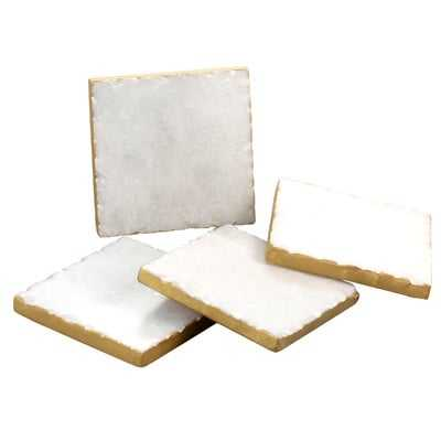 Old Hollywood Square Marble Coaster - Birch Lane
