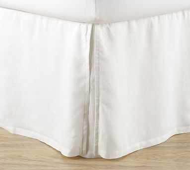 Belgian Linen Bedskirt Full-18 White - Pottery Barn