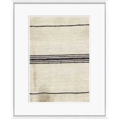 "Vintage French Sack Cloth in Black  23"" x 29"" - Soicher Marin"