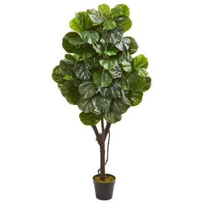 Nearly Natural 5 ft. Indoor Fiddle Leaf Fig Artificial Tree - Home Depot