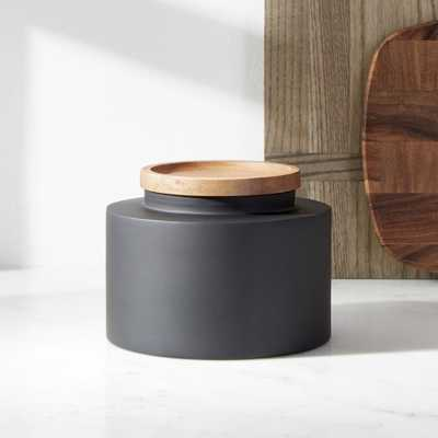 Clark Small Matte Black Canister - Crate and Barrel