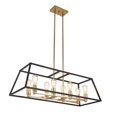 Artika Carter 8-Light Black Chandelier - Home Depot