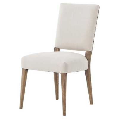 Holland Modern Classic Soft Beige Linen Dining Chair - Kathy Kuo Home