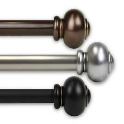 Rod Desyne Dani 1 in. Curtain Rod 120 in. to 170 in. in Black - Home Depot