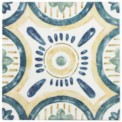 Merola Tile Bourges Isola 7-7/8 in. x 7-7/8 in. Ceramic Wall Tile (10.76 sq. ft. / case), Multi/High Sheen - Home Depot