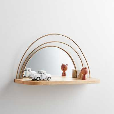 Wall Shelf and Mirror - Crate and Barrel