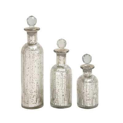 3 Piece Decorative Bottle Set - Wayfair