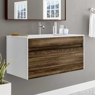 "Frida 36"" Wall-Mounted Single Bathroom Vanity Set - AllModern"