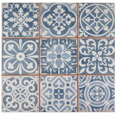Merola Tile Faenza Azul 13 in. x 13 in. Ceramic Floor and Wall Tile (12.2 sq. ft. / case), Azul/Low Sheen - Home Depot