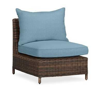 Torrey Sectional Cushion Slipcover, Armless/Right-Arm/Left-Arm, Sunbrella(R) Horizon - Pottery Barn