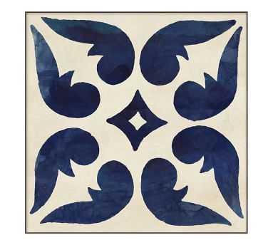 "Indigo Tiles Framed Print 1, 19 x 19"" - Pottery Barn"