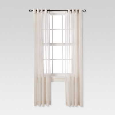 "Linen Grommet Sheer Curtain Panel Natural (54""X84"") - Threshold - Target"