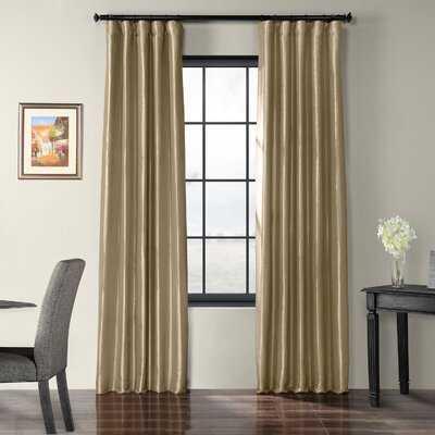 Lochleven Faux Silk Taffeta Solid Room Polyester Darkening Single Curtain Panel - AllModern