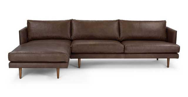 Burrard Bella Brown Left Sectional Sofa - Article