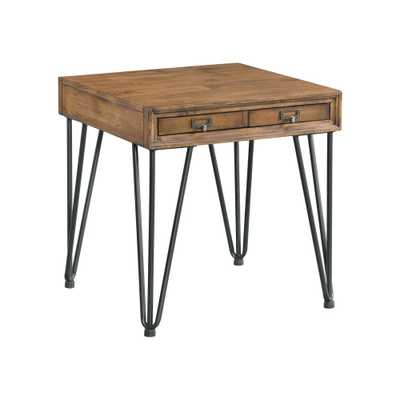 Tanner Light Walnut Transitional End Table - Home Depot