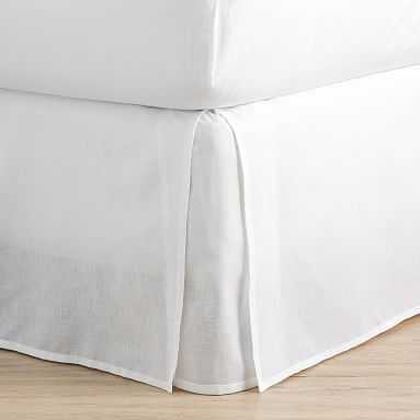 "Classic Cotton Bed Skirt, Full, White 18"" Drop - Pottery Barn Teen"