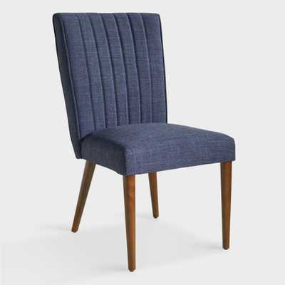 Navy Blue Holly Upholstered Dining Chair by World Market - World Market/Cost Plus