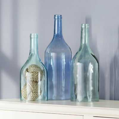 3 Piece Cloche Bottle Vase Set - Wayfair
