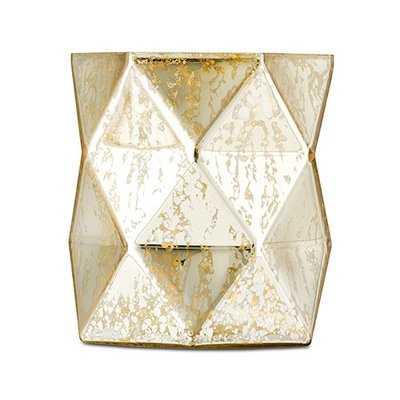 Jonathan Geo Mercury Glass Hurricane Table Vase (Set of 2) - Wayfair