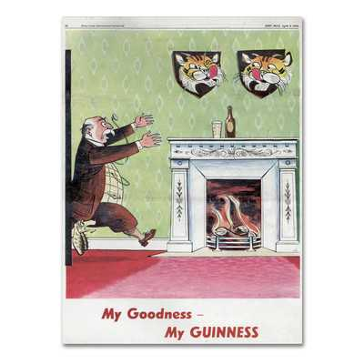 "My Goodness My Guinness V"" by Guinness Brewery Vintage Advertisement on Wrapped Canvas - Wayfair"