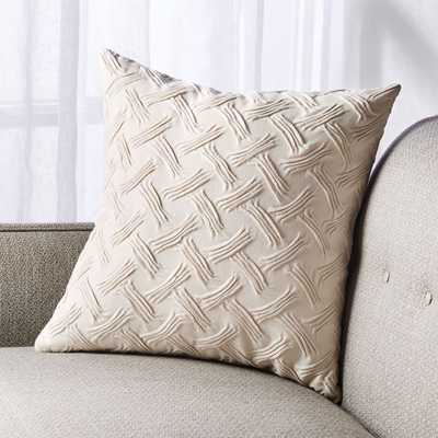 """Shay Textured Pillow with Feather-Down Insert 18"""" - Crate and Barrel"""