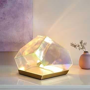 Glass Gem Table Lamp, Antique Brass - West Elm