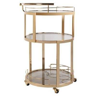 Cudney Wine Rack Bar Cart - AllModern