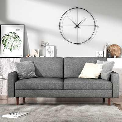 "McKenly Modern 69.7"" Square Arm Sofa - light grey - Wayfair"