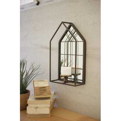 House Shape Wall Mirror With Candle Holder - Wayfair