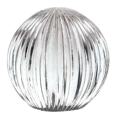 Corette Silver Decorative Glass Globe - Wayfair