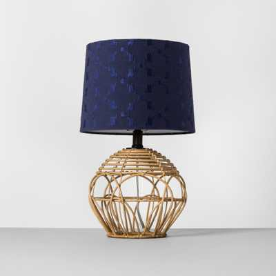 Rattan Table Lamp Shade Navy Includes Energy Efficient Light Bulb - Opalhouse, Beige - Target