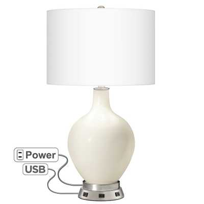 West Highland White Ovo Table Lamp with USB Workstation Base - Style # 68W22 - Lamps Plus