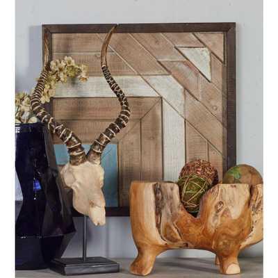 """20 in. x 20 in. """"Geometric Pattern"""" Framed Wooden Wall Art - Home Depot"""