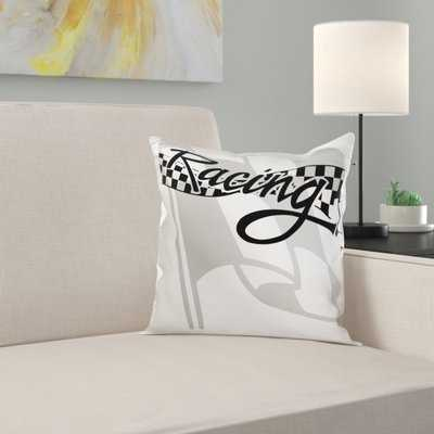 Racing Checkered Flag Pillow Cover - Wayfair