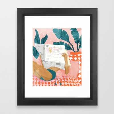 Morning News Framed Art Print by 83Oranges - Society6