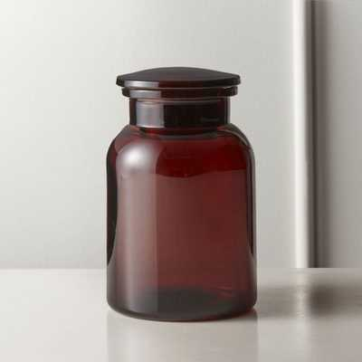 Almanzo Amber Canister Small - CB2