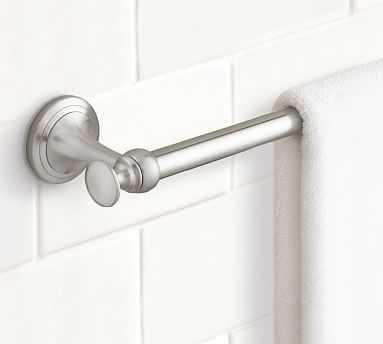 "Mercer Towel Bar, 24"", Satin Nickel finish - Pottery Barn"
