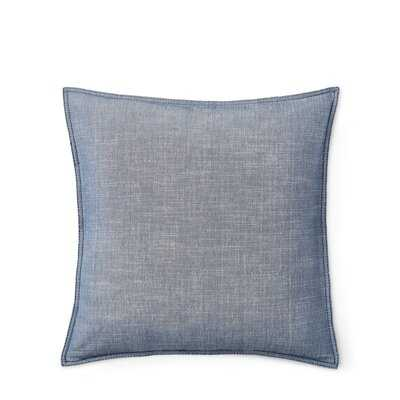 Juliet Chambray Cotton Throw Pillow - Wayfair