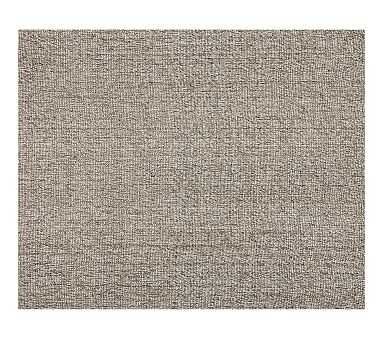 Chunky Natural Wool & Jute Rug, 9 x 12', Gray - Pottery Barn