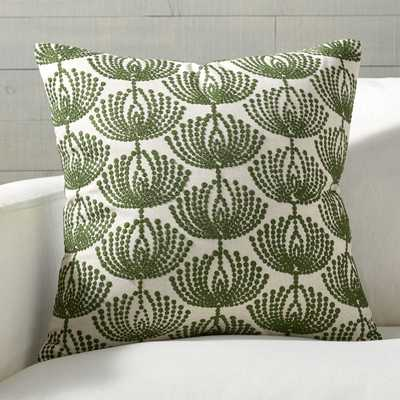 """Anessa Green Botanical Pillow with Feather-Down Insert 20"""" - Crate and Barrel"""