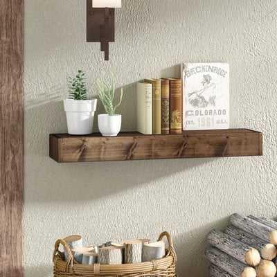 """Wadebridge Wood Floating Shelf 36"""" - Wayfair"""